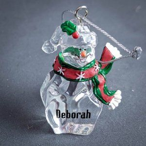Deborah Christmas Ornament Personalized Name